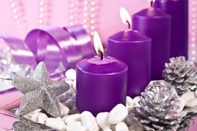 圣诞节的蜡烛