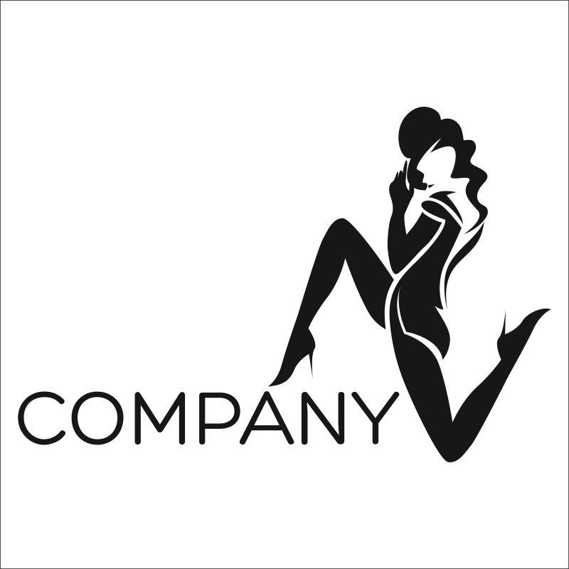 矢量的舞女形状图标设计
