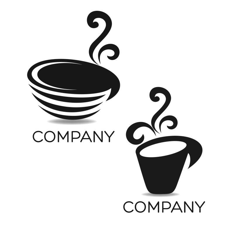 矢量的圆形咖啡杯图标设计