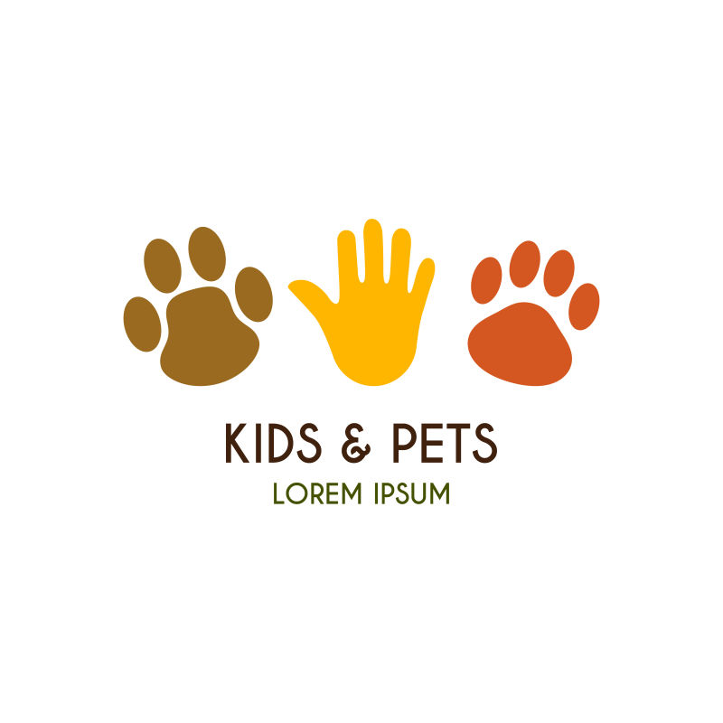 矢量的宠物商店标识设计