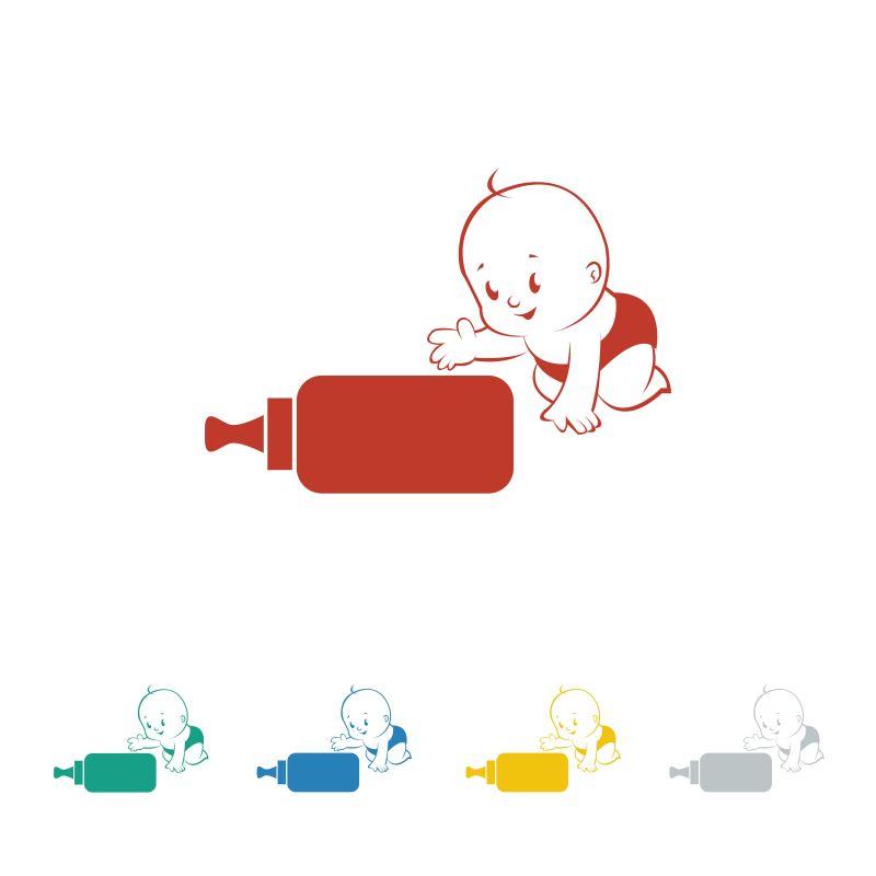 矢量的婴儿标识设计