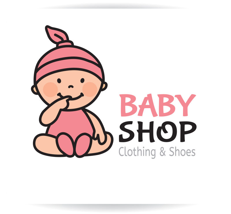 矢量的婴儿店标志