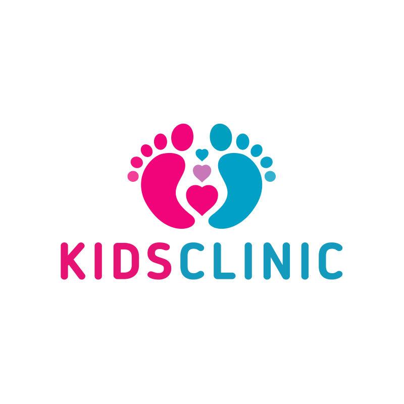 儿童保健诊所矢量标识