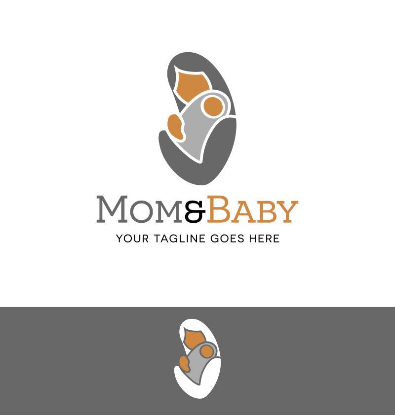矢量的母婴主题标识