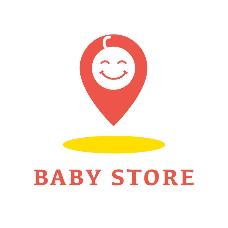 矢量的宝贝商店标识