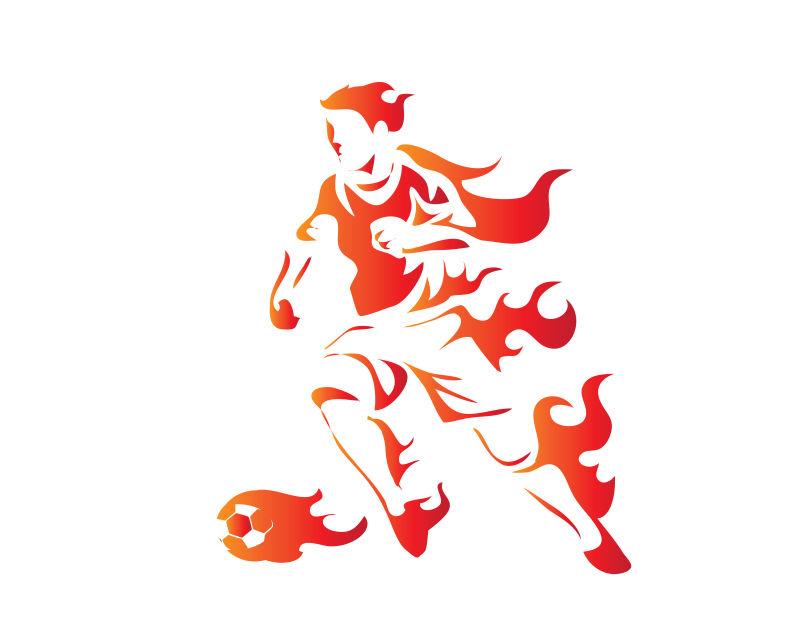 足球运动员矢量插图设计