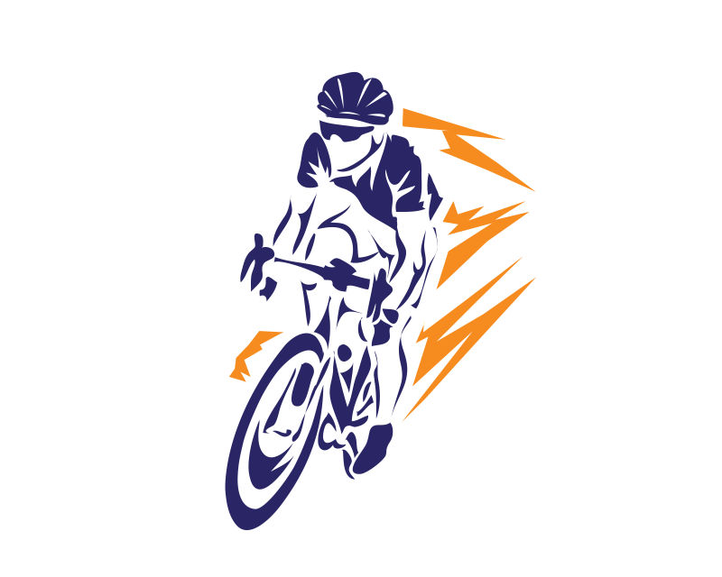 矢量的自行车运动员插图设计