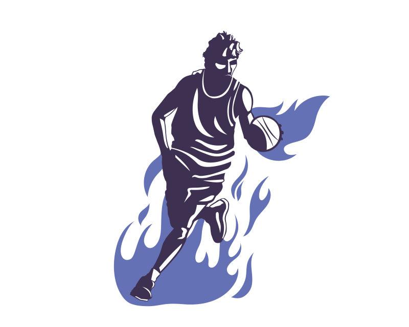 矢量的篮球运动员