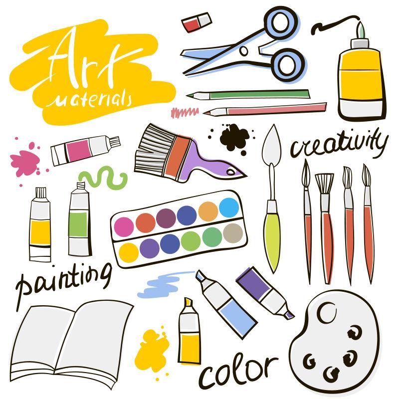 矢量创意绘图工具的图标设计背景