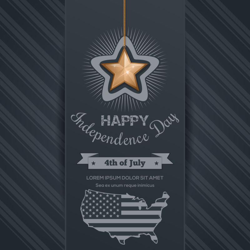 创意矢量庆祝独立日的背景