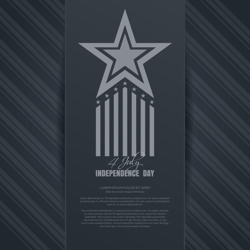 矢量徽章元素的独立日背景