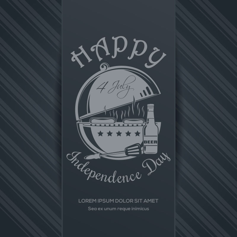 独立日快乐的矢量背景
