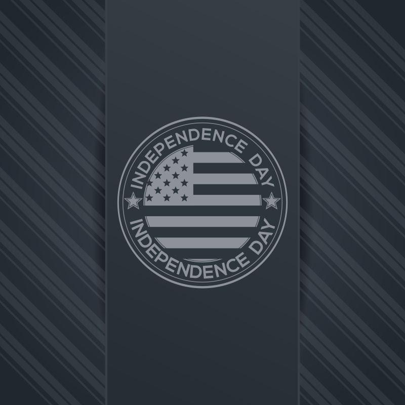 优雅的美国国旗元素的矢量独立日背景