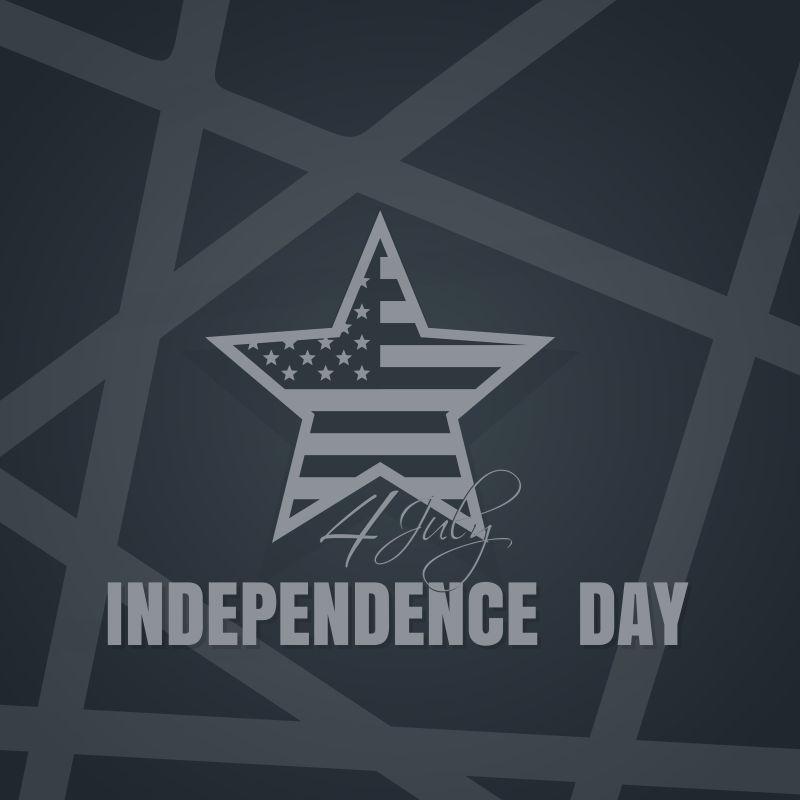 矢量有星星形状的独立日背景