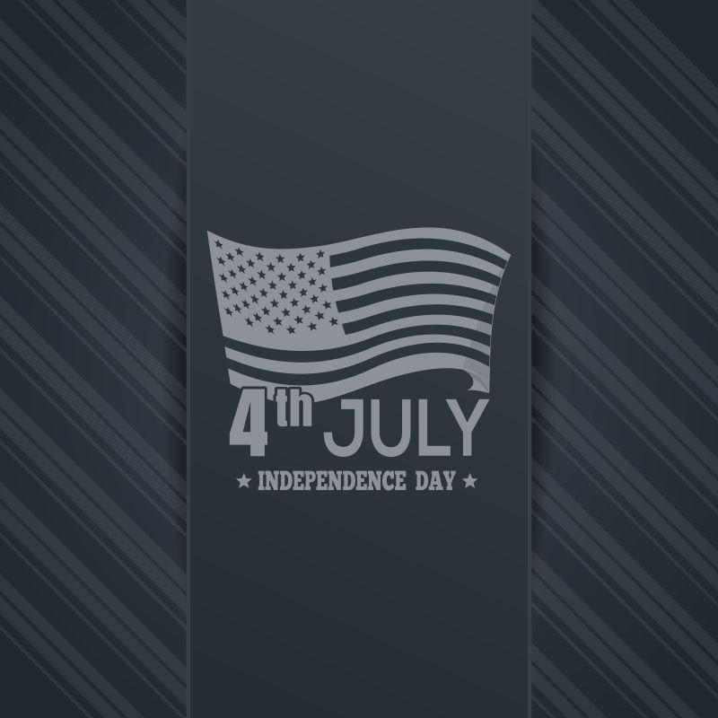 创意美国国旗元素的矢量独立日背景