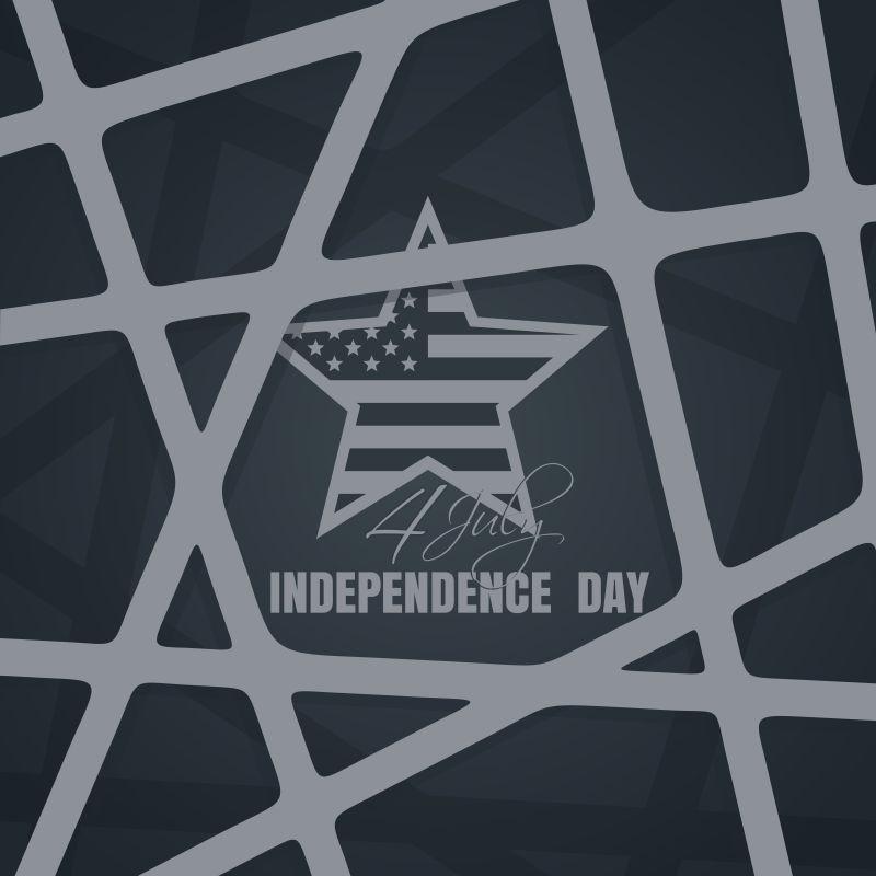 优雅灰色的矢量独立日背景