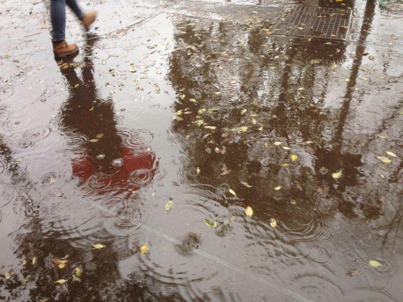 下雨时地面的积水