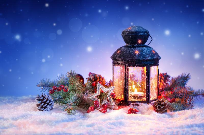 雪花雪灯圣诞节装饰品
