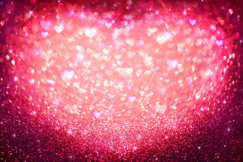 红色闪耀的爱心