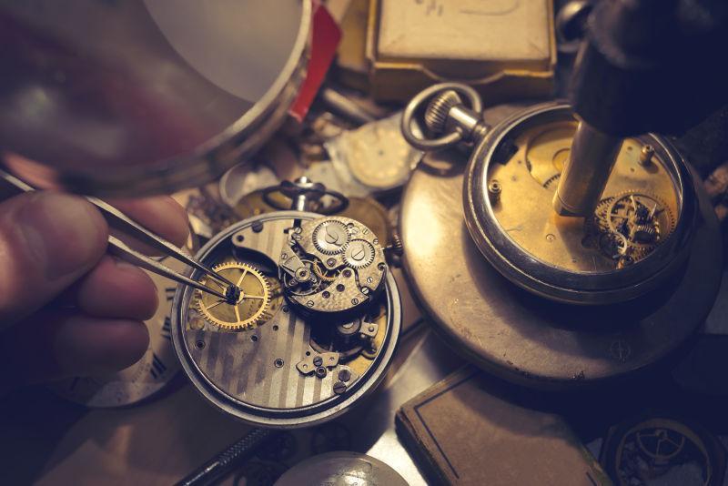 修理老式自动手表