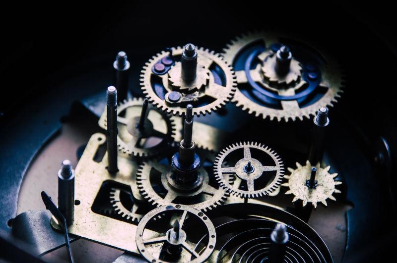 手表内的机械结构