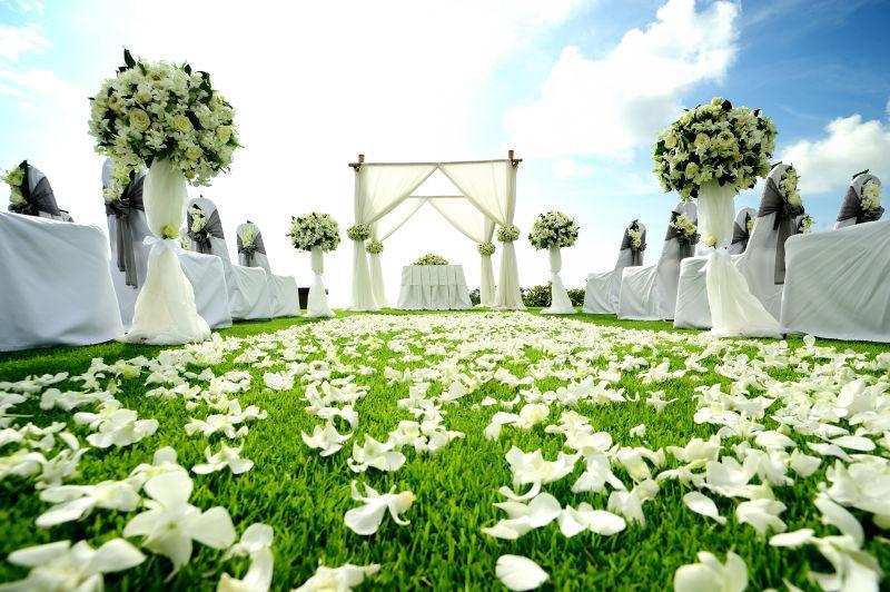 美丽的花园婚礼