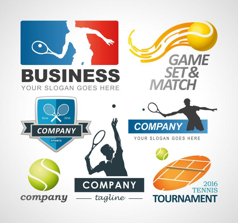 矢量网球标志创意设计