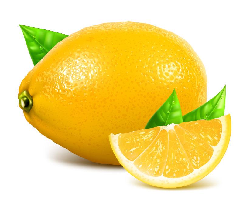 新鲜柠檬矢量插图