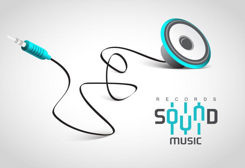 创意矢量音乐播放器的平面设计