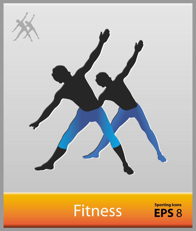 矢量的健美操体育象形图