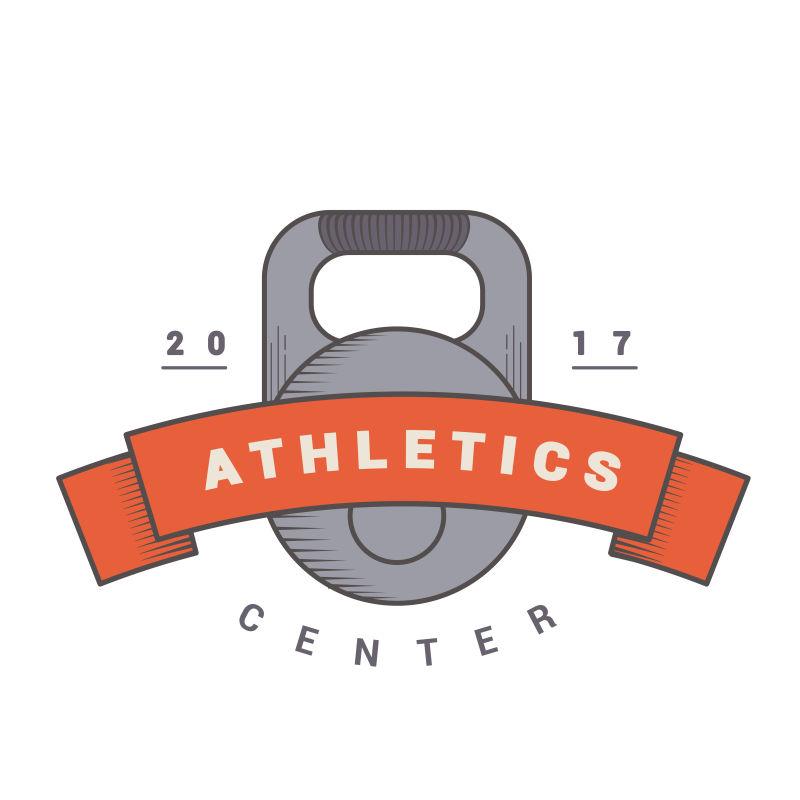 矢量老式的运动健身标志设计