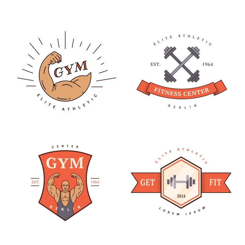 一套古典的矢量运动标志设计