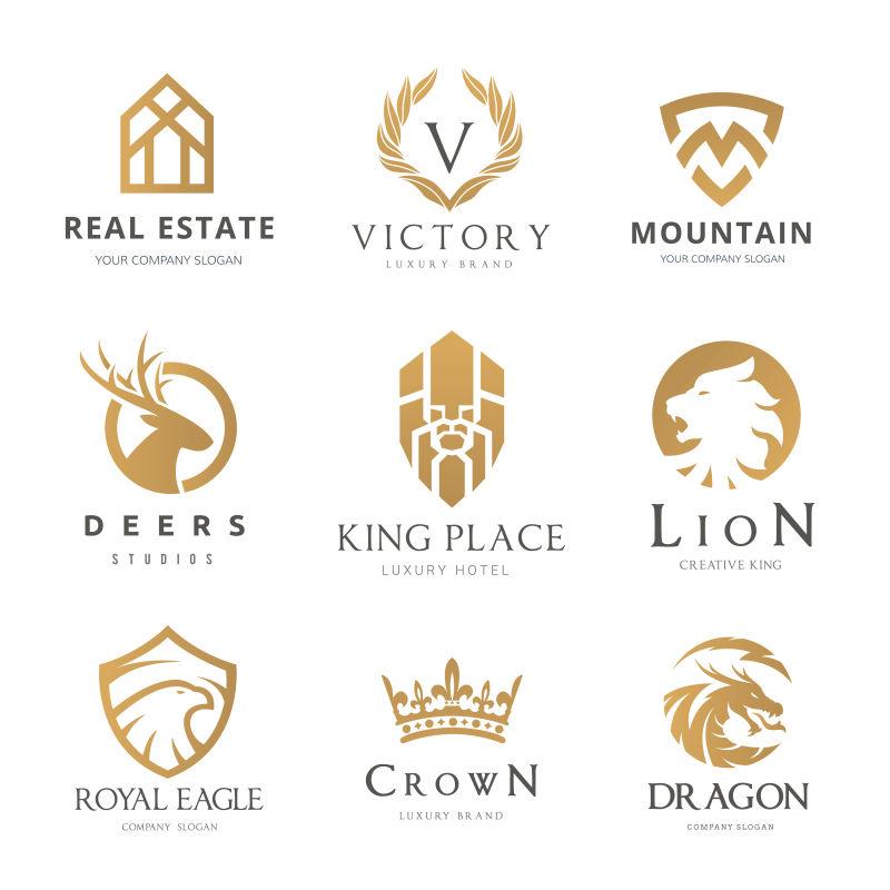 矢量创意金色品牌标志设计合集
