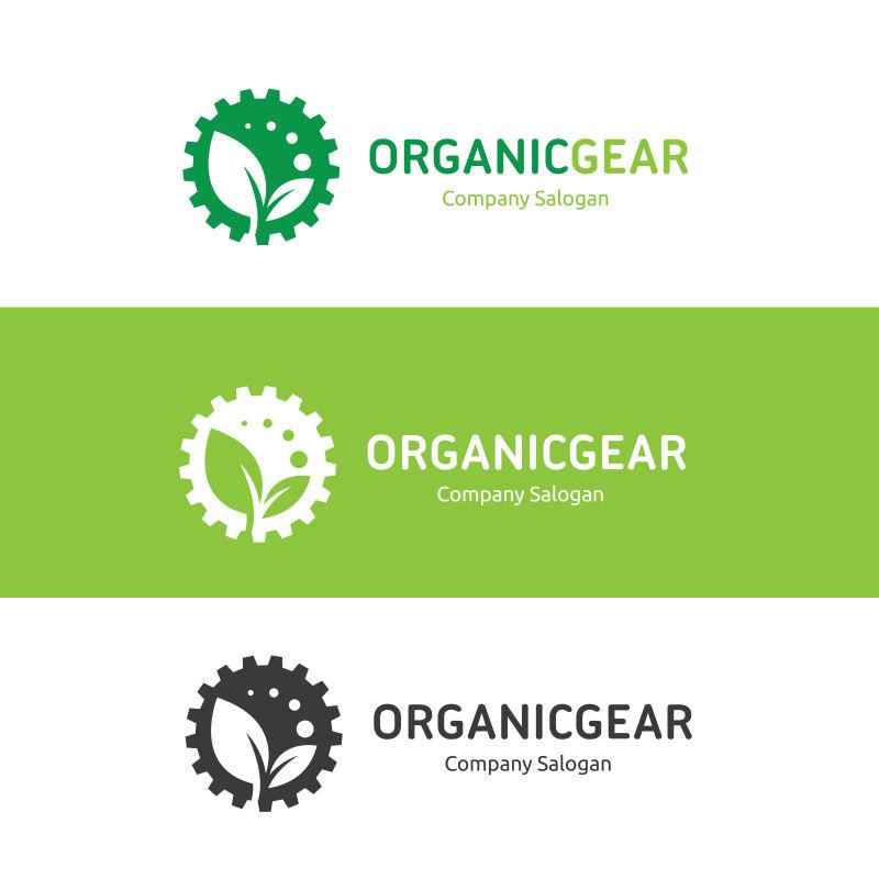 创意矢量绿色生态标志设计