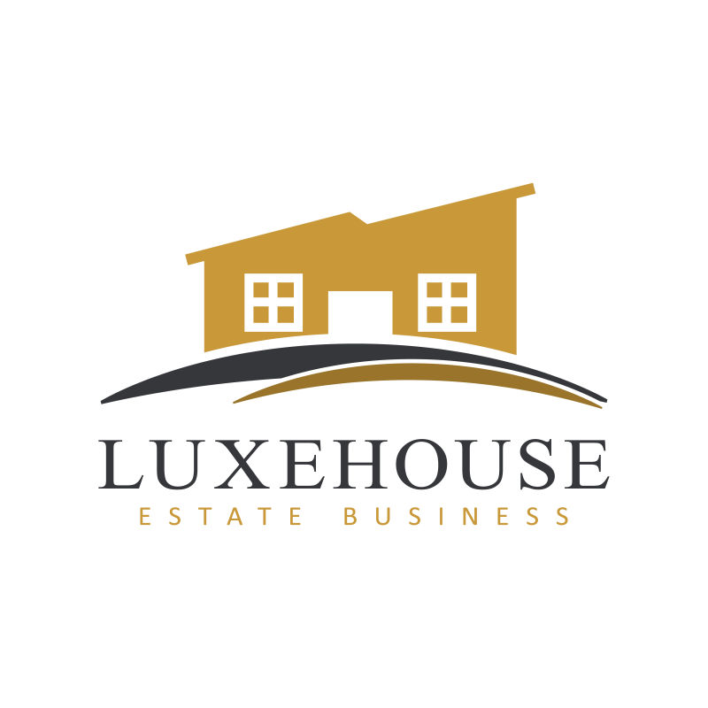 矢量的房屋形状logo