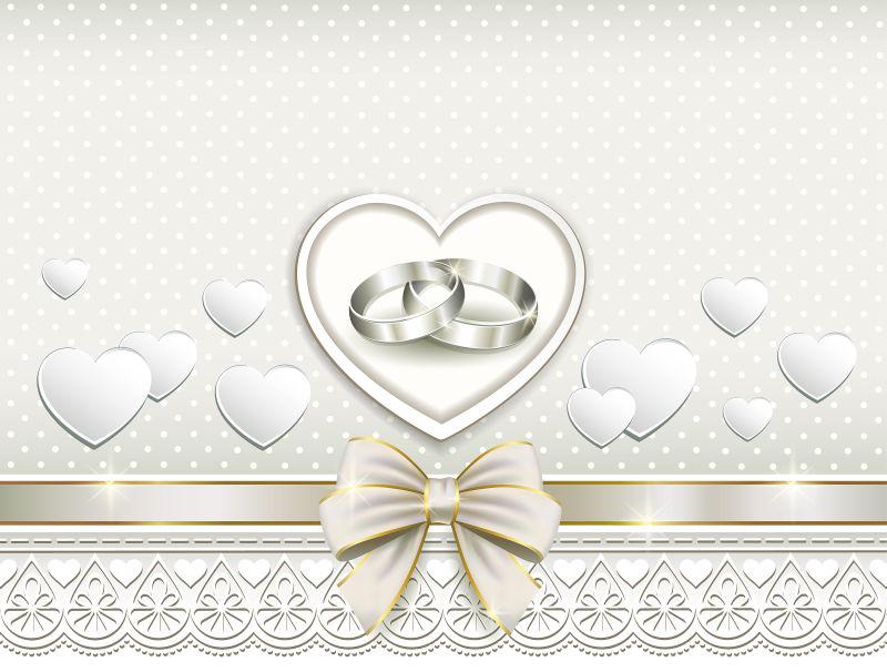 矢量创意装饰花纹婚礼贺卡设计