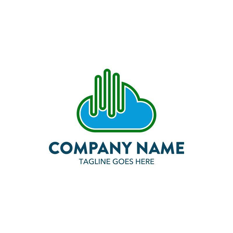 创意矢量公司云标志设计