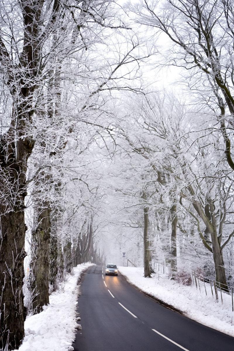 冬季道路上的行车