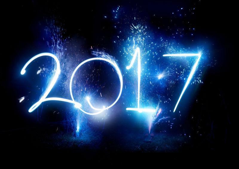 2017焰火晚会新年快乐庆典