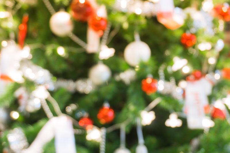 无对焦圣诞树装饰