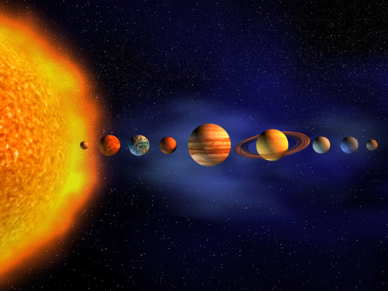 太阳与九大行星