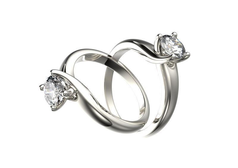 一对钻石戒指
