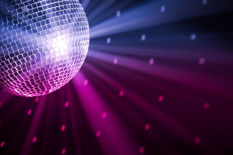 迪斯科舞厅里的灯光球