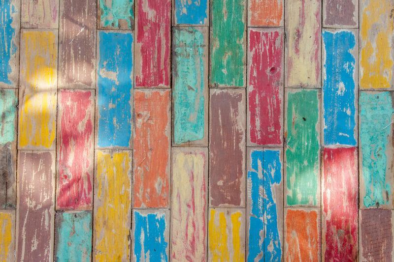 有颜色的木板纹理
