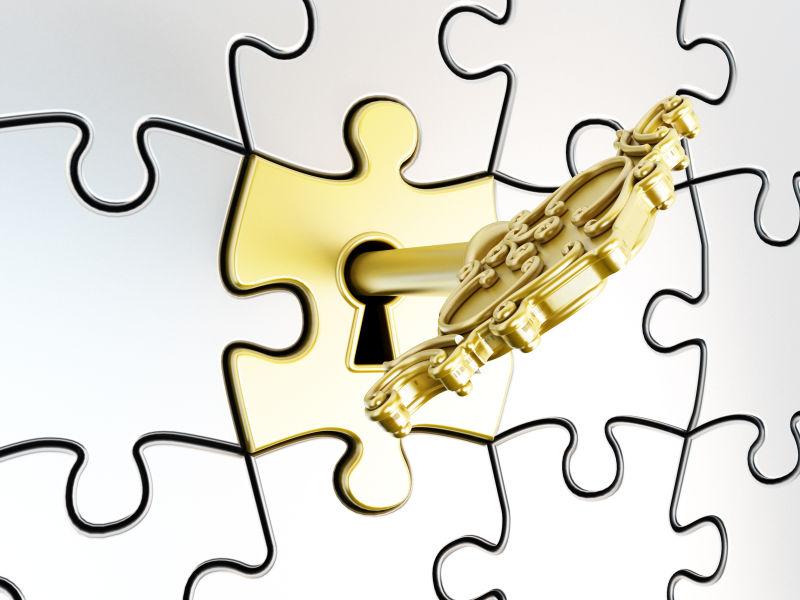 金色的钥匙与锁