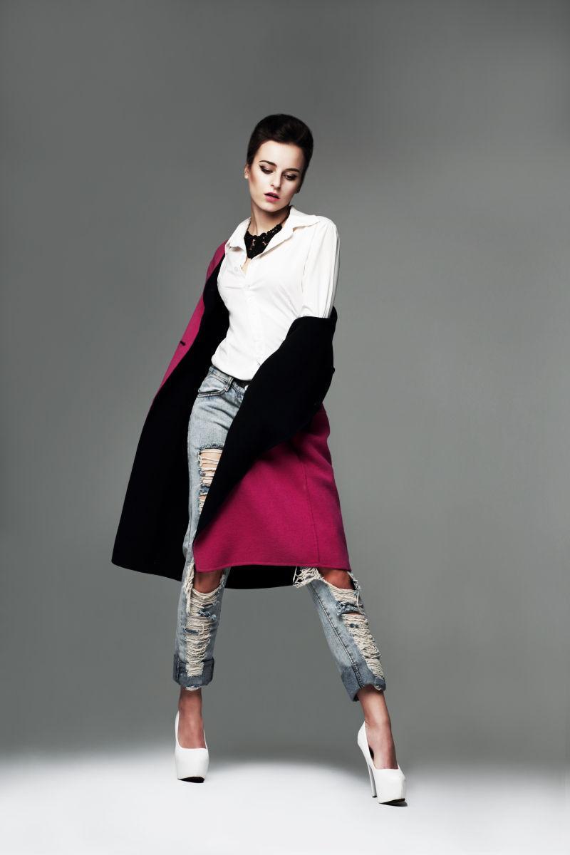 一个时尚女性