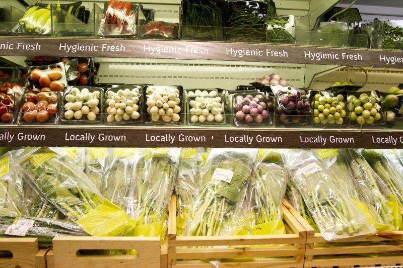超市中的各种蔬菜