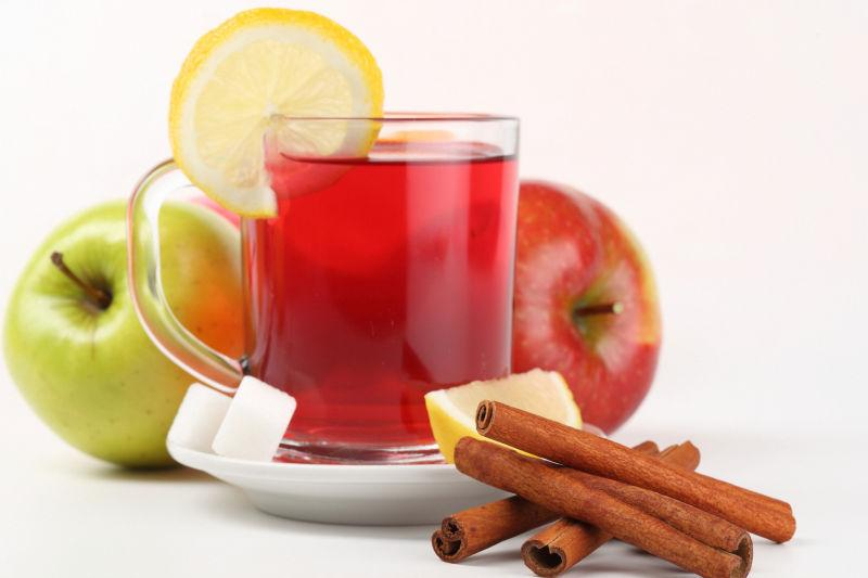 苹果柠檬水果茶
