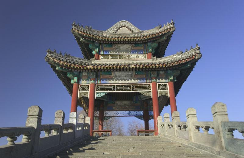 蓝天下中国古建筑