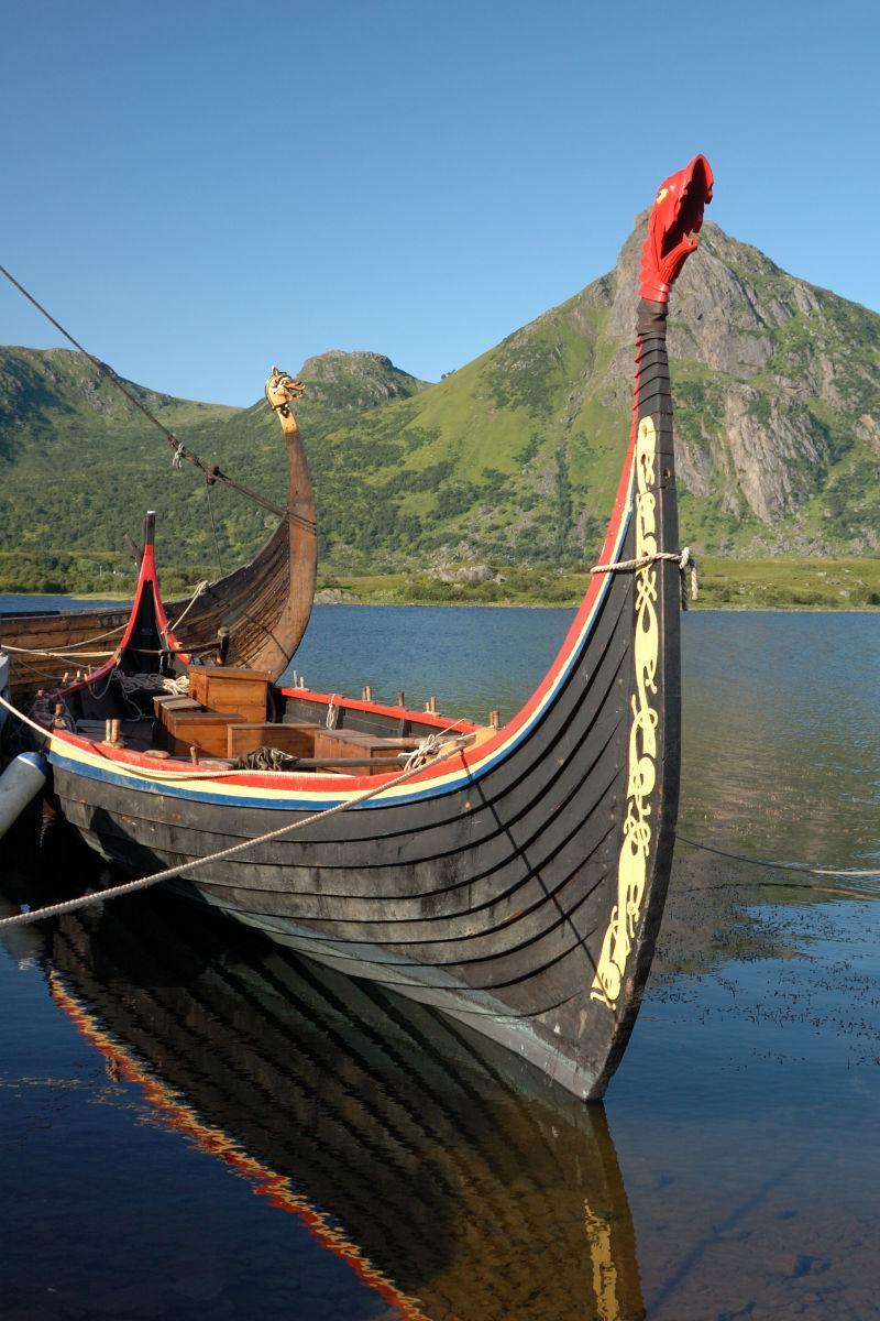 北欧海盗的船